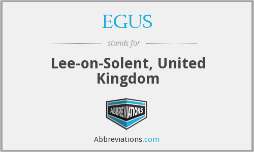 EGUS - Lee-on-Solent, United Kingdom