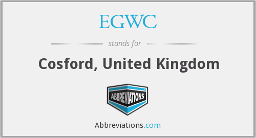 EGWC - Cosford, United Kingdom