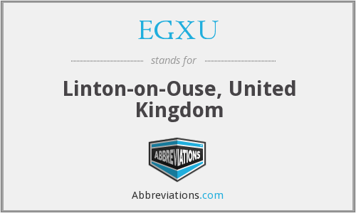 EGXU - Linton-on-Ouse, United Kingdom