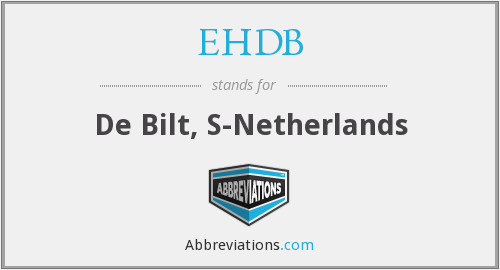 What does EHDB stand for?