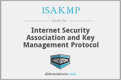 What does ISAKMP stand for?