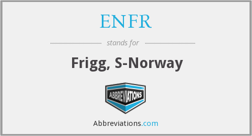ENFR - Frigg, S-Norway