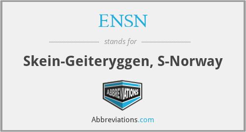 ENSN - Skein-Geiteryggen, S-Norway