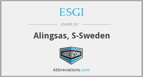 ESGI - Alingsas, S-Sweden