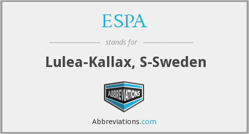 What does ESPA stand for?