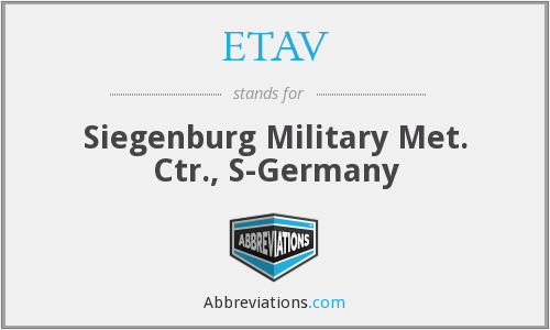 What does ETAV stand for?