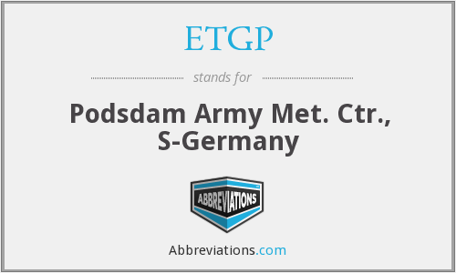 What does ETGP stand for?