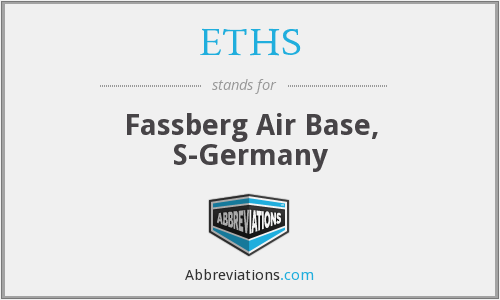 ETHS - Fassberg Air Base, S-Germany
