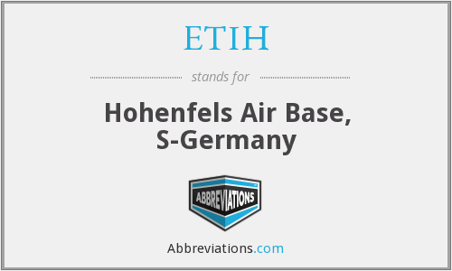 ETIH - Hohenfels Air Base, S-Germany