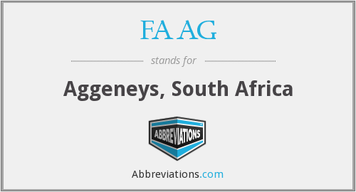 FAAG - Aggeneys, South Africa
