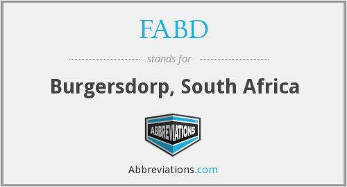 FABD - Burgersdorp, South Africa