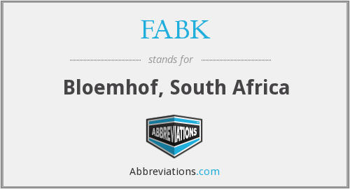 FABK - Bloemhof, South Africa