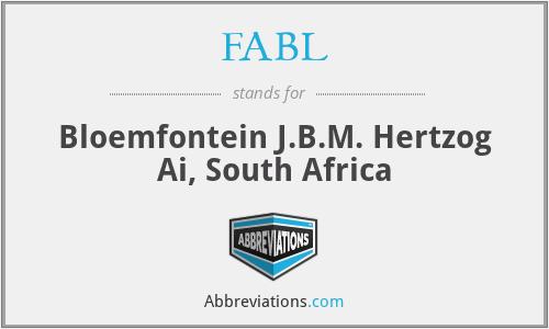 FABL - Bloemfontein J.B.M. Hertzog Ai, South Africa