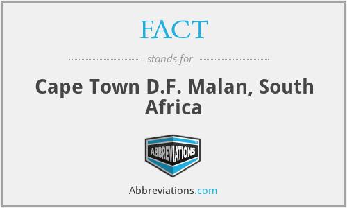 FACT - Cape Town D.F. Malan, South Africa