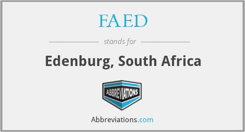 FAED - Edenburg, South Africa