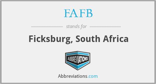 FAFB - Ficksburg, South Africa
