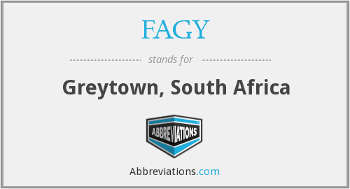 FAGY - Greytown, South Africa