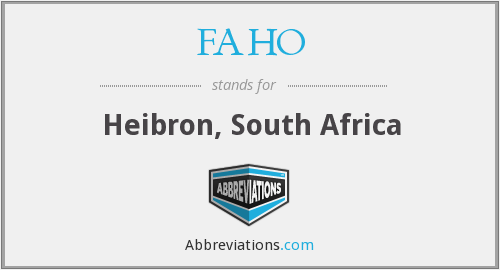 What does FAHO stand for?