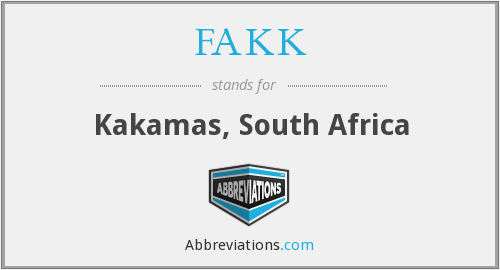 What does FAKK stand for?