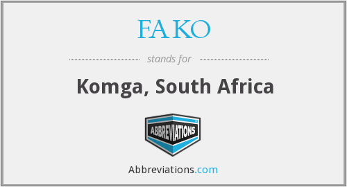 What does FAKO stand for?
