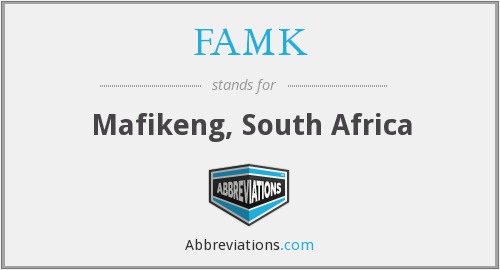What does FAMK stand for?