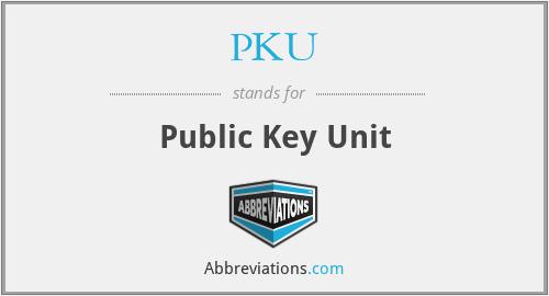 PKU - Public Key Unit