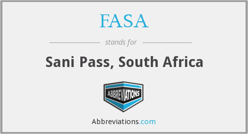 FASA - Sani Pass, South Africa