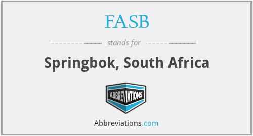 FASB - Springbok, South Africa