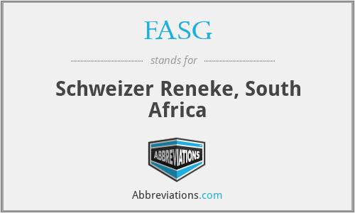 FASG - Schweizer Reneke, South Africa