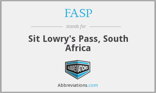 FASP - Sit Lowry's Pass, South Africa
