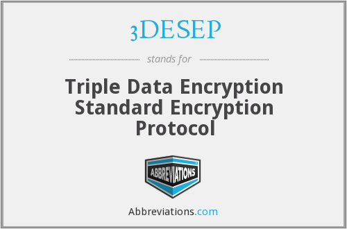 3DESEP - Triple Data Encryption Standard Encryption Protocol
