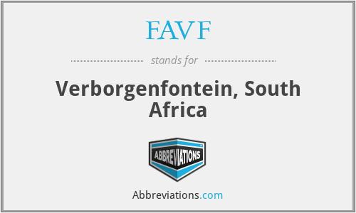 FAVF - Verborgenfontein, South Africa