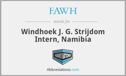FAWH - Windhoek J. G. Strijdom Intern, Namibia
