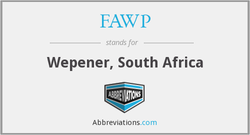 FAWP - Wepener, South Africa