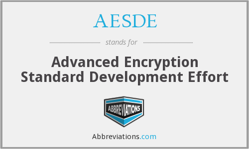 AESDE - Advanced Encryption Standard Development Effort