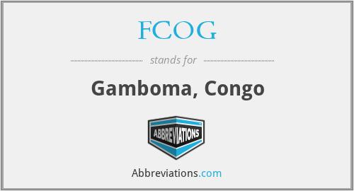 FCOG - Gamboma, Congo