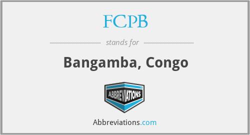 FCPB - Bangamba, Congo
