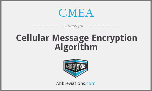 CMEA - Cellular Message Encryption Algorithm