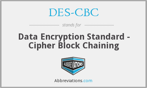 What does DES-CBC stand for?