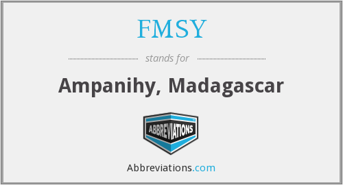 What does FMSY stand for?