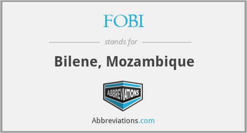 FOBI - Bilene, Mozambique