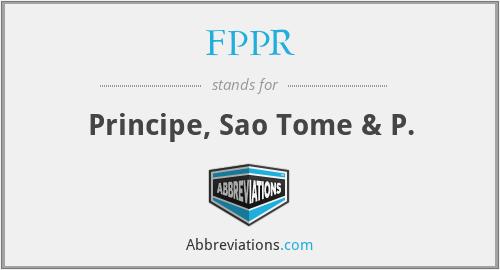 FPPR - Principe, Sao Tome & P.