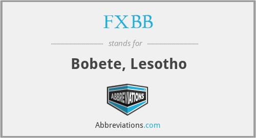 FXBB - Bobete, Lesotho