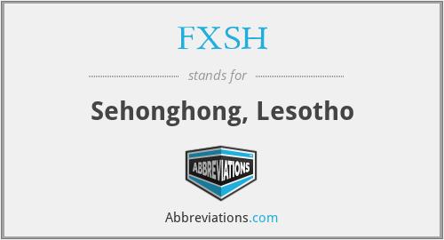 FXSH - Sehonghong, Lesotho