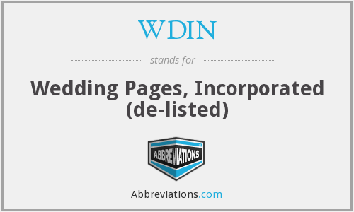 WDIN - Wedding Pages, Inc.