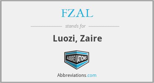 FZAL - Luozi, Zaire