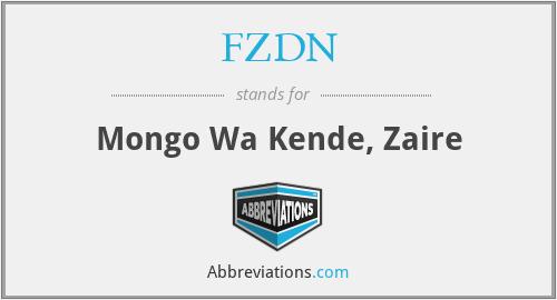 FZDN - Mongo Wa Kende, Zaire