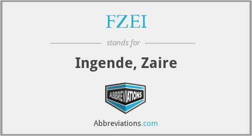 FZEI - Ingende, Zaire