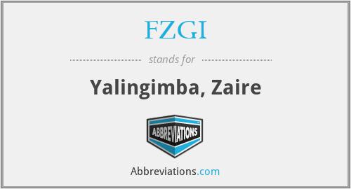 FZGI - Yalingimba, Zaire