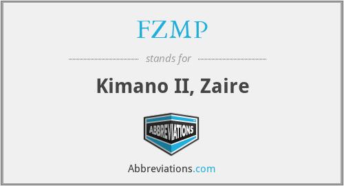FZMP - Kimano II, Zaire